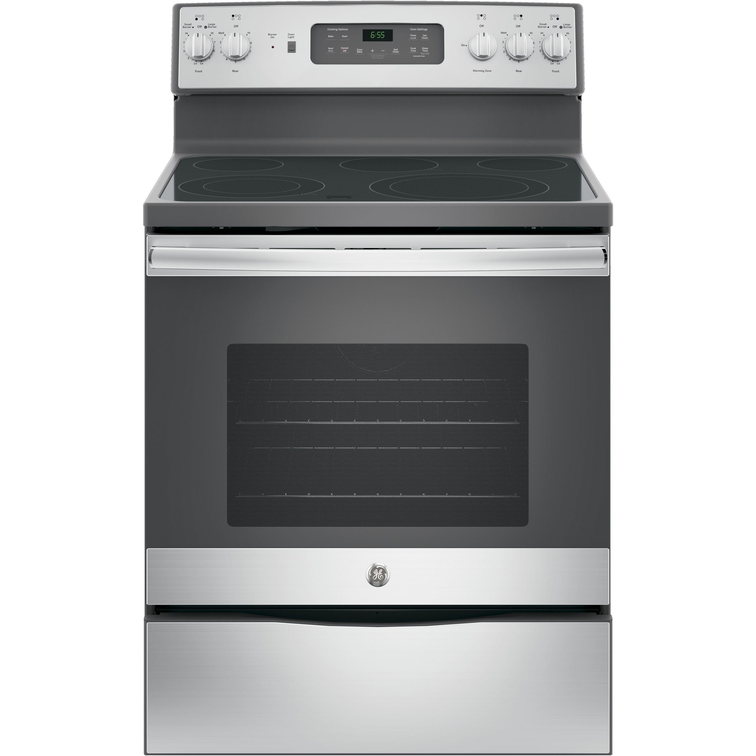 "GE Appliances GE Electric Ranges 30"" Free-Standing Convection Electric Range - Item Number: JB655SKSS"
