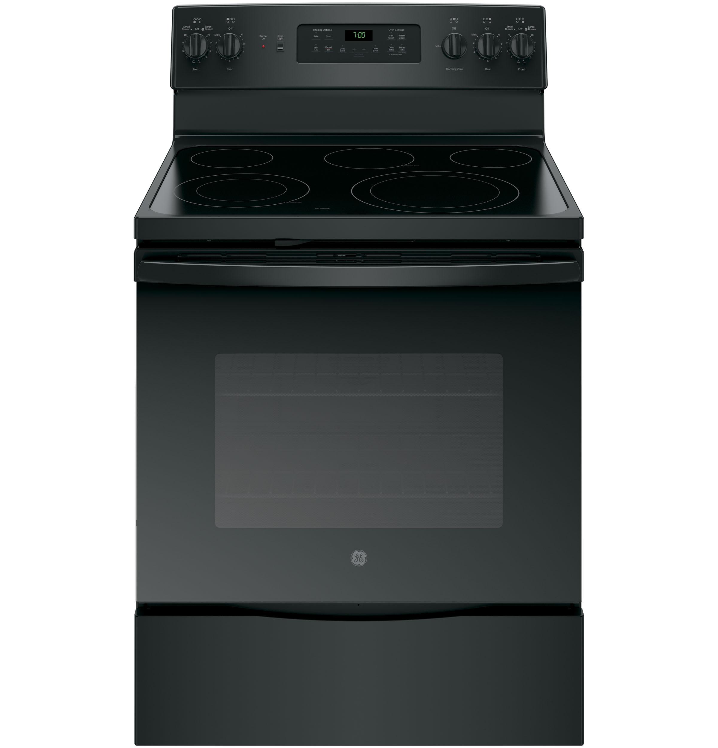"GE Appliances GE Electric Ranges 30"" Electric Convection Range - Item Number: JB700DJBB"