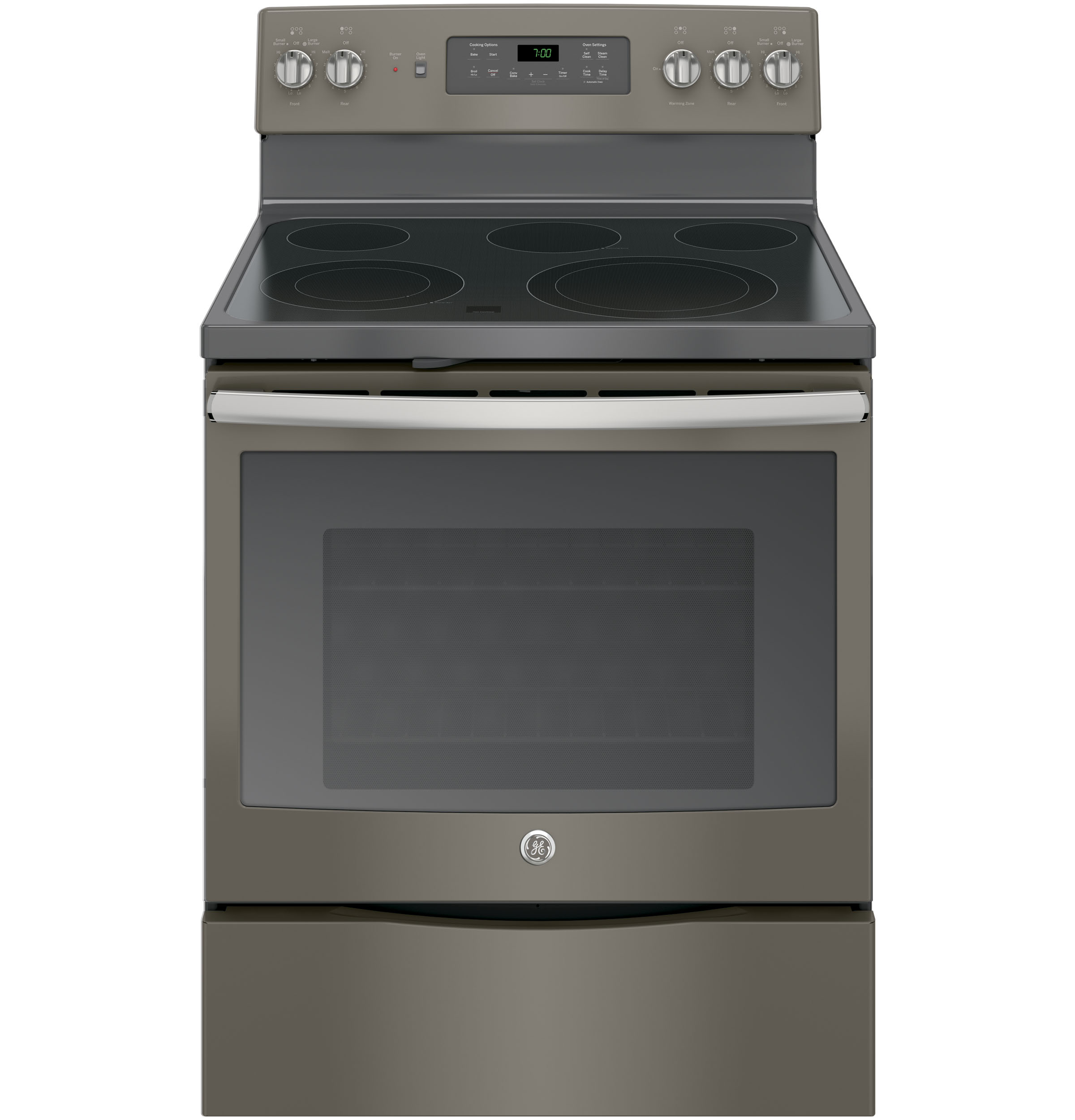 "GE Appliances GE Electric Ranges 30"" Electric Convection Range - Item Number: JB700EJES"