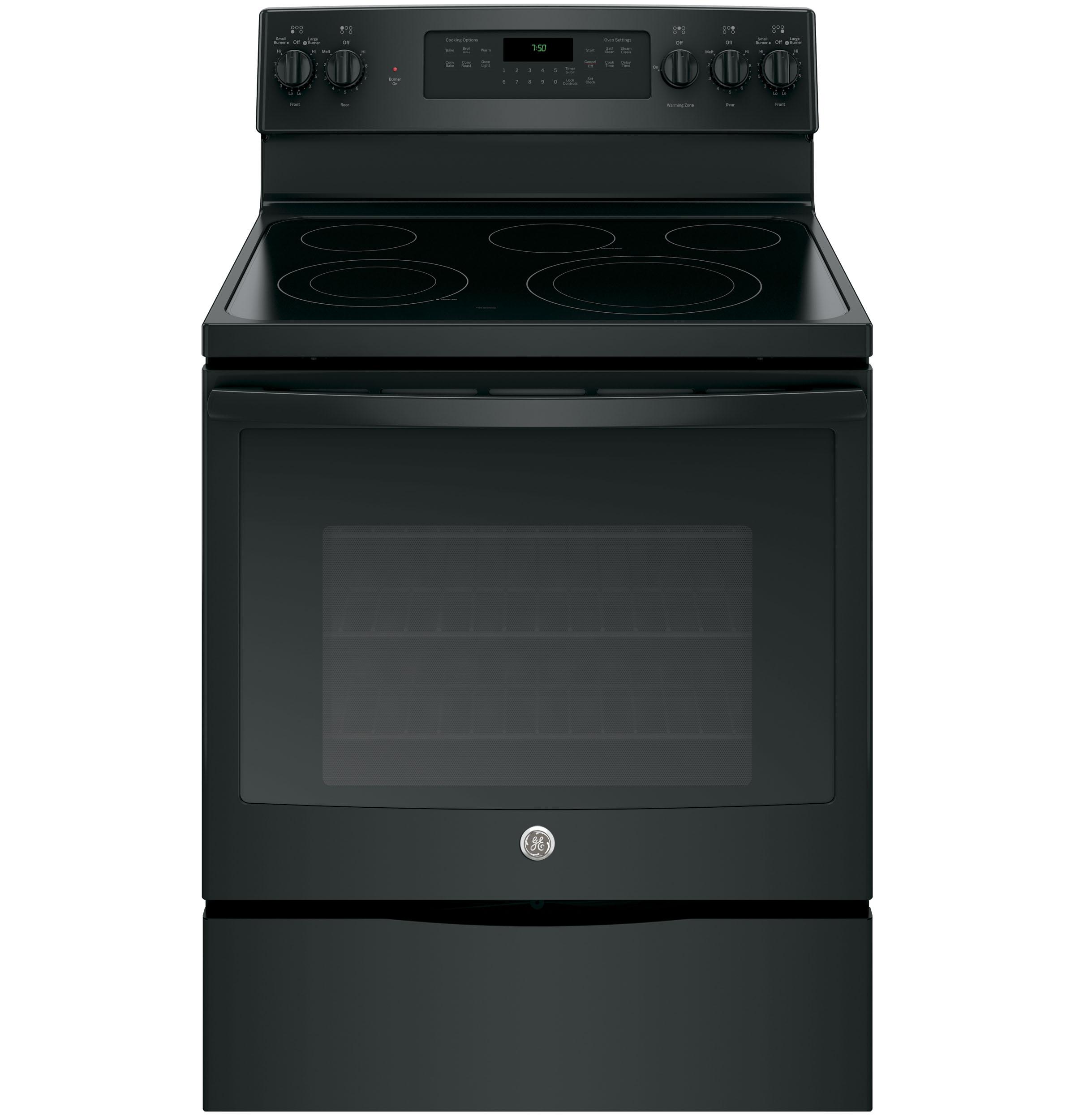 "GE Appliances GE Electric Ranges 30"" Electric Convection Range - Item Number: JB750DJBB"