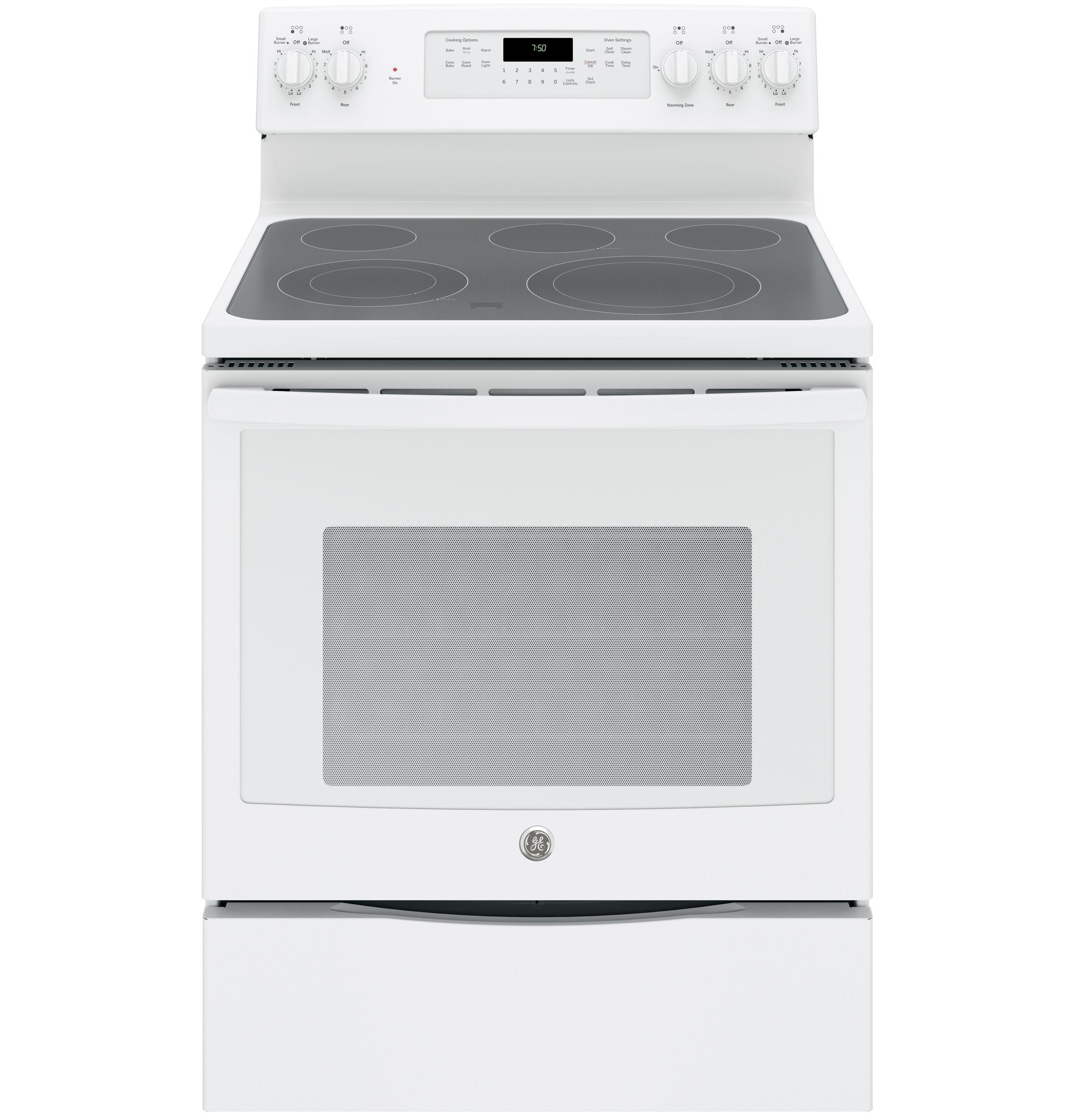 "GE Appliances GE Electric Ranges 30"" Electric Convection Range - Item Number: JB750DJWW"