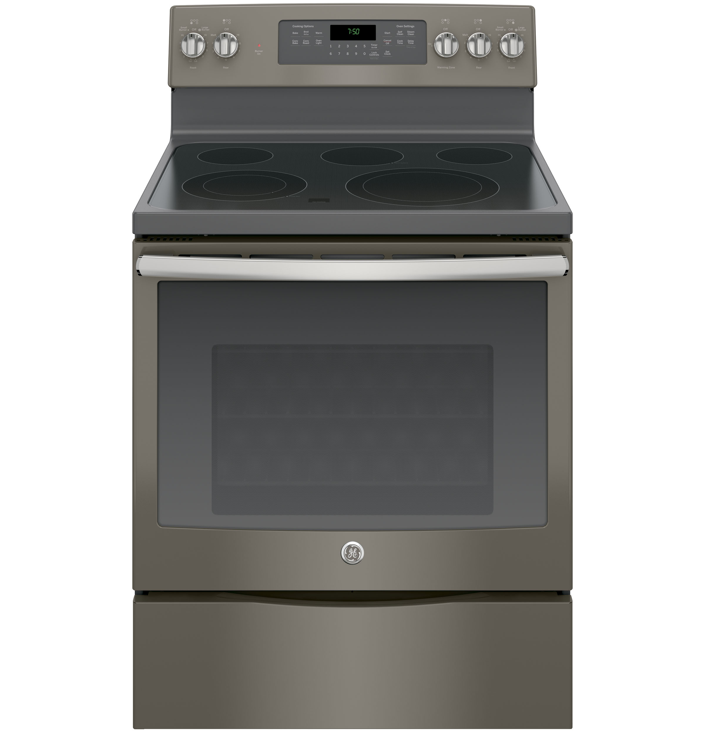 "GE Appliances GE Electric Ranges 30"" Electric Convection Range - Item Number: JB750EJES"