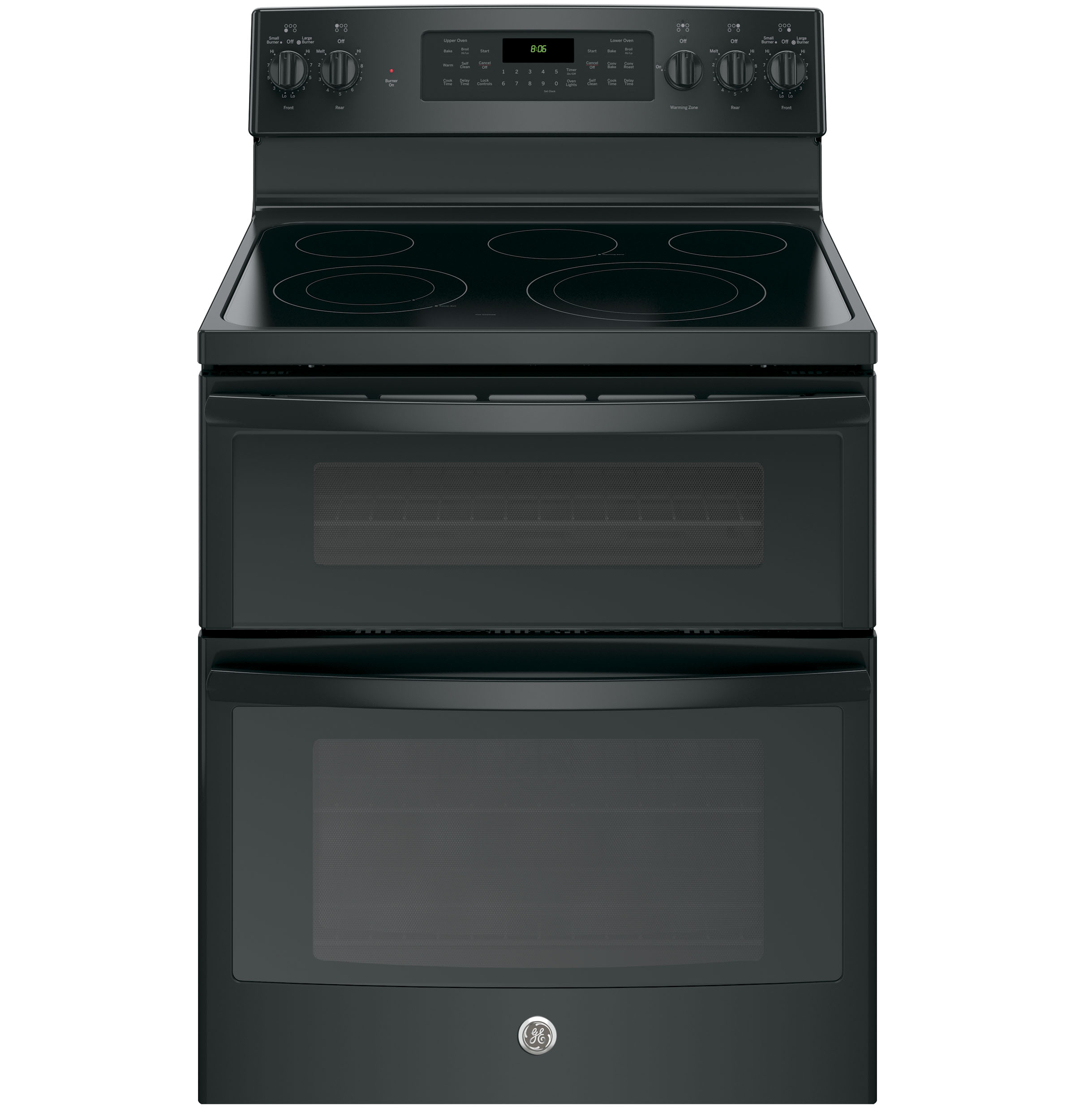 """GE Appliances GE Electric Ranges 30"""" Electric Double Oven Convection Range - Item Number: JB860DJBB"""