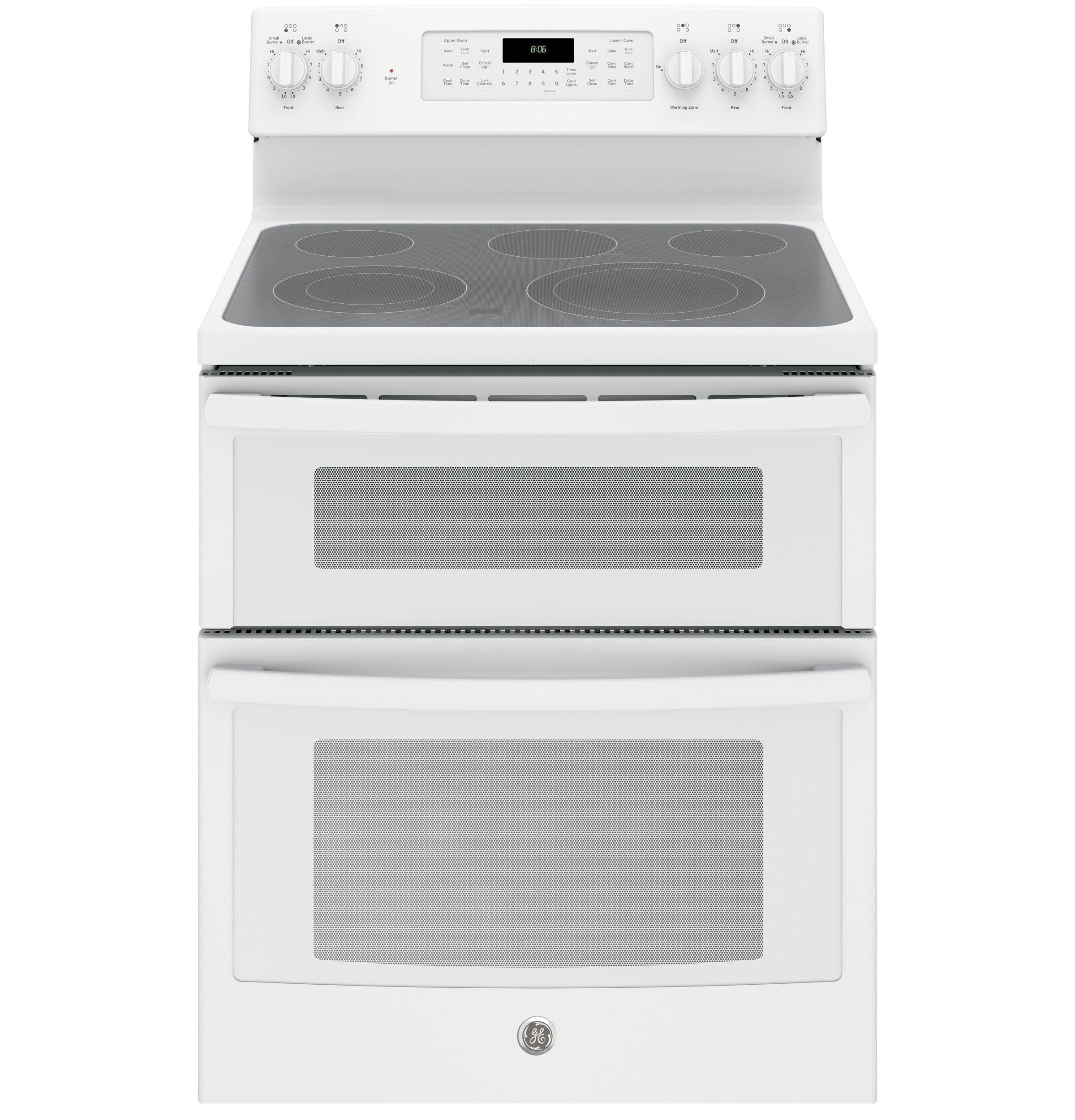 """GE Appliances GE Electric Ranges 30"""" Electric Double Oven Convection Range - Item Number: JB860DJWW"""