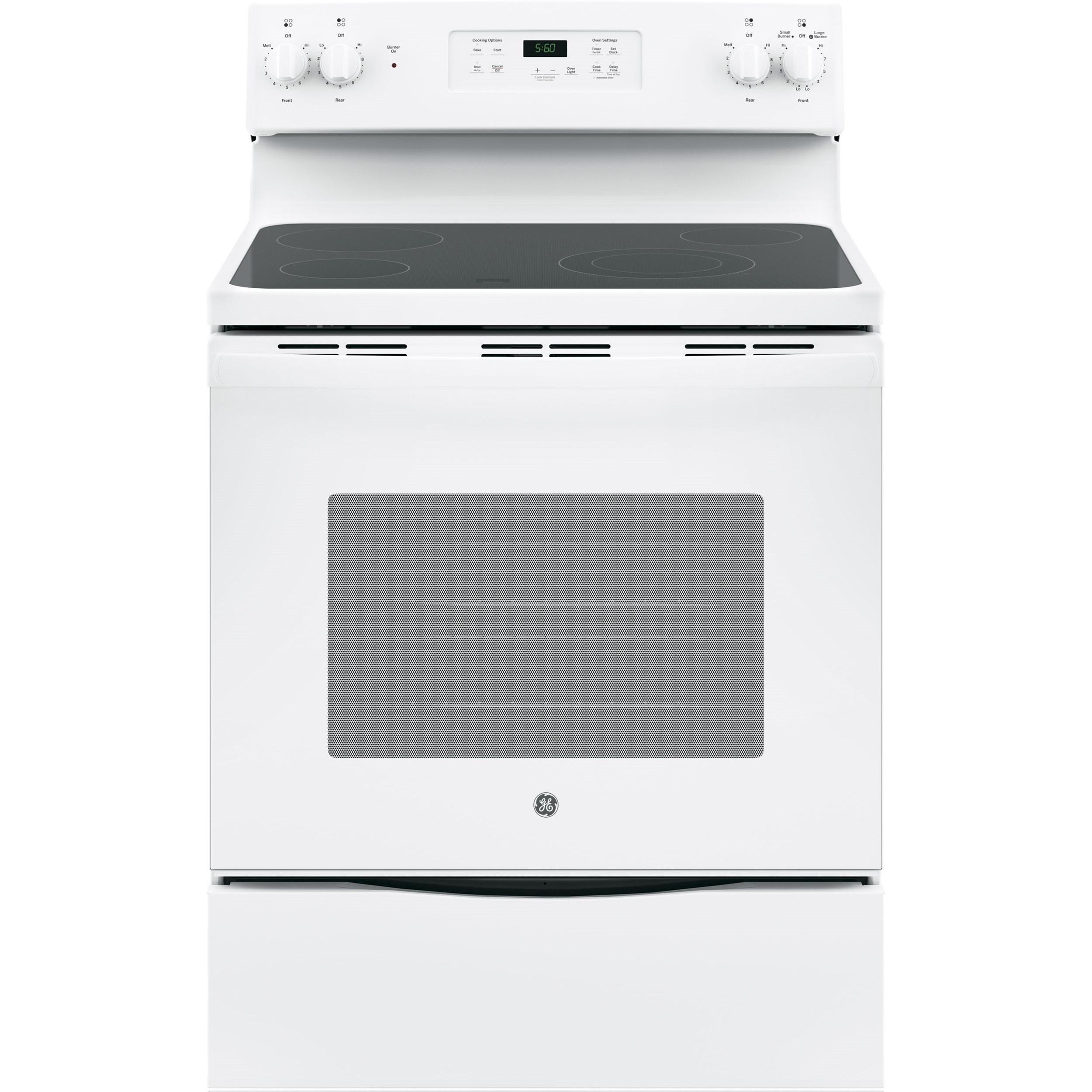 "GE Appliances GE Electric Ranges GE® 30"" Free-Standing Electric Range - Item Number: JBS60DKWW"