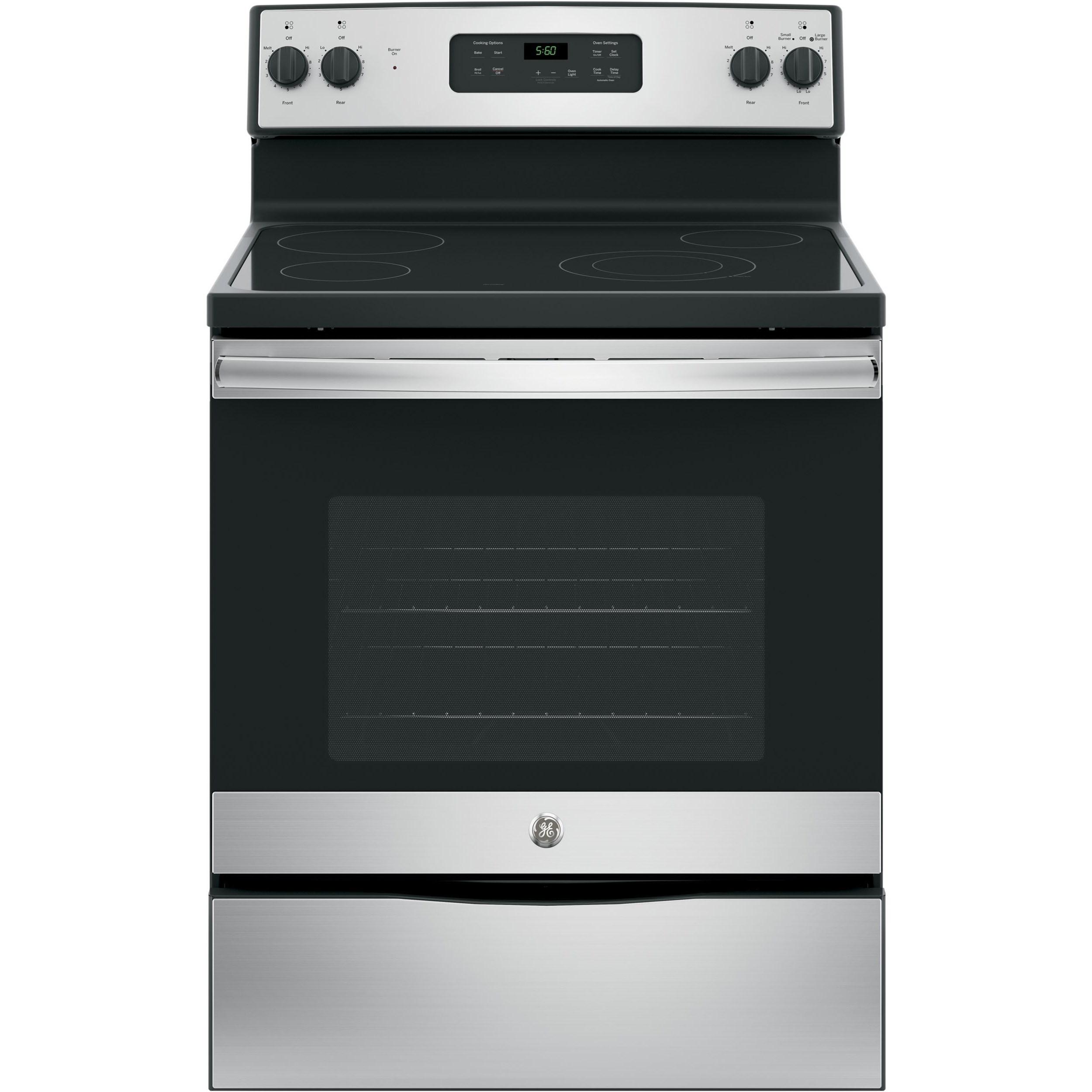 "GE Appliances GE Electric Ranges GE® 30"" Free-Standing Electric Range - Item Number: JBS60RKSS"
