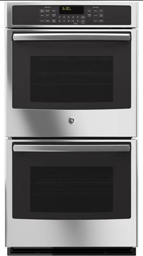 """GE Appliances Electric Wall Oven 27"""" Built-In Convection Wall Oven - Item Number: JK5500SFSS"""