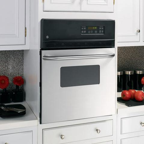 """GE Appliances Electric Wall Oven 24"""" Built-In Single Electric Oven - Item Number: JRP20SKSS"""