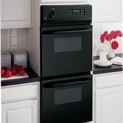 """GE Appliances Electric Wall Oven 24"""" Built-In Double Wall Oven - Item Number: JRP28BJBB"""