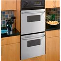 "GE Appliances Electric Wall Oven 24"" Built-In Double Wall Oven - Item Number: JRP28SKSS"