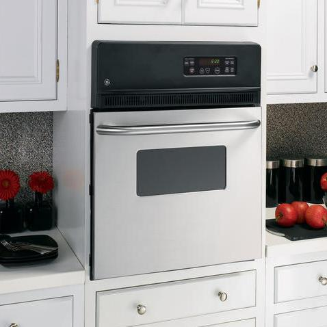 """GE Appliances Electric Wall Oven 24"""" Built-In Single Electric Wall Oven - Item Number: JRS06SKSS"""