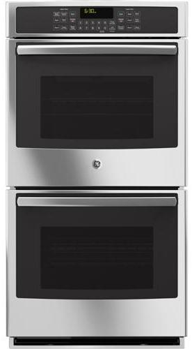 """GE Appliances Electric Wall Oven 27"""" Built-In Double Convection Wall Oven - Item Number: PK7500SFSS"""