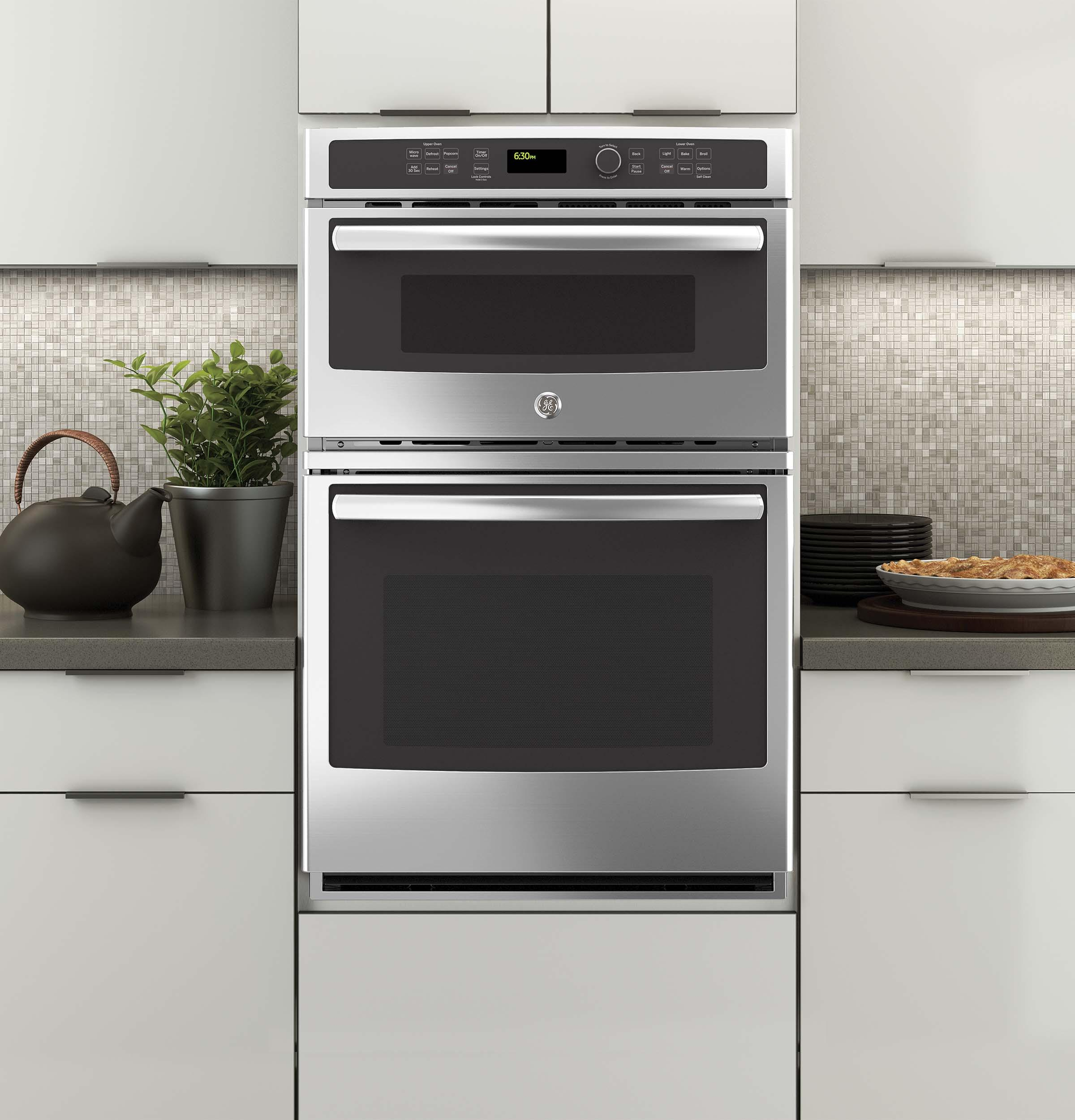 """GE Appliances Electric Wall Ovens 27"""" Built-In Combination Microwave/Oven - Item Number: JK3800SHSS"""