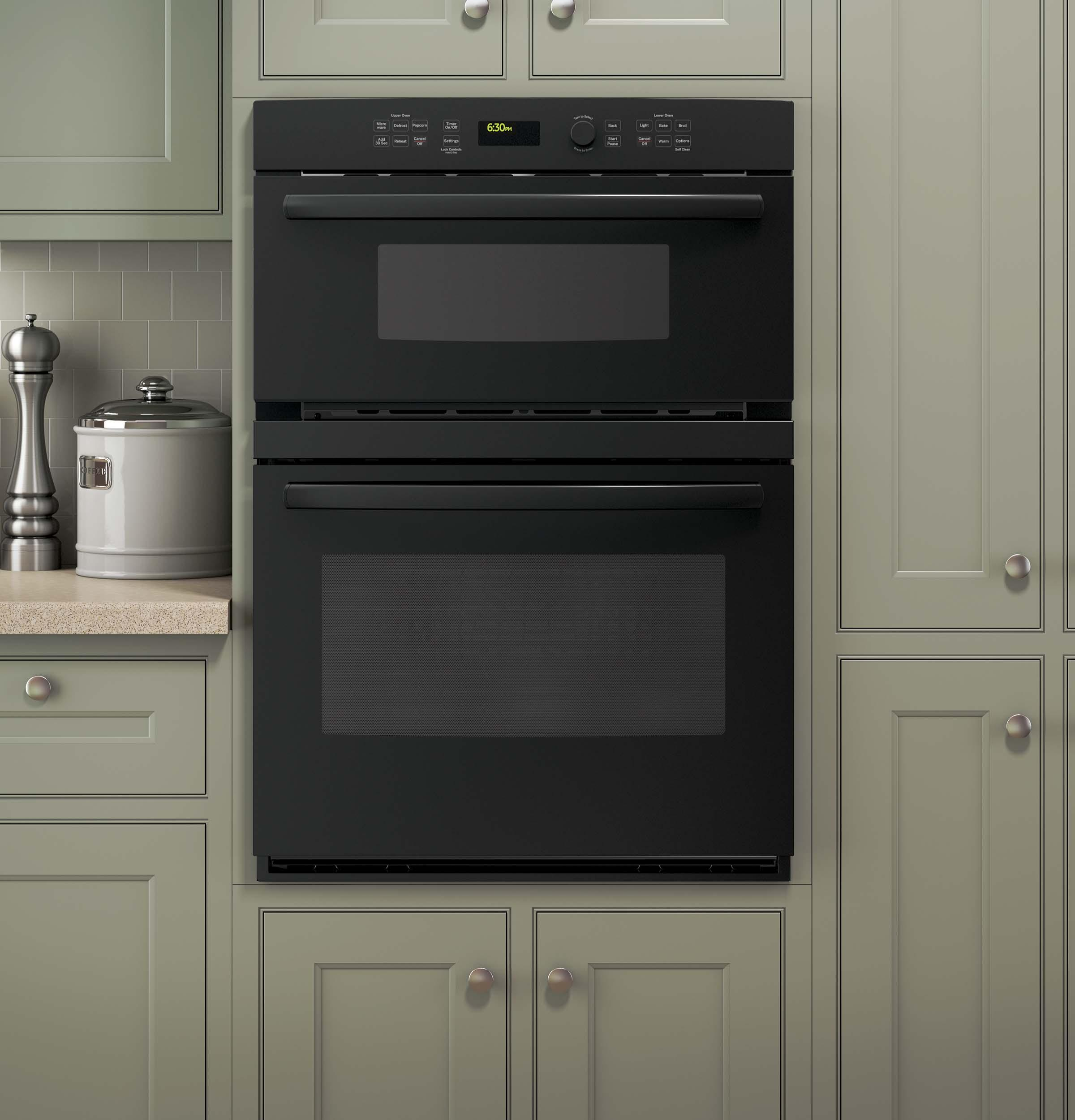 "GE Appliances Electric Wall Ovens 30"" Built-In Combination Oven - Item Number: JT3800DHBB"
