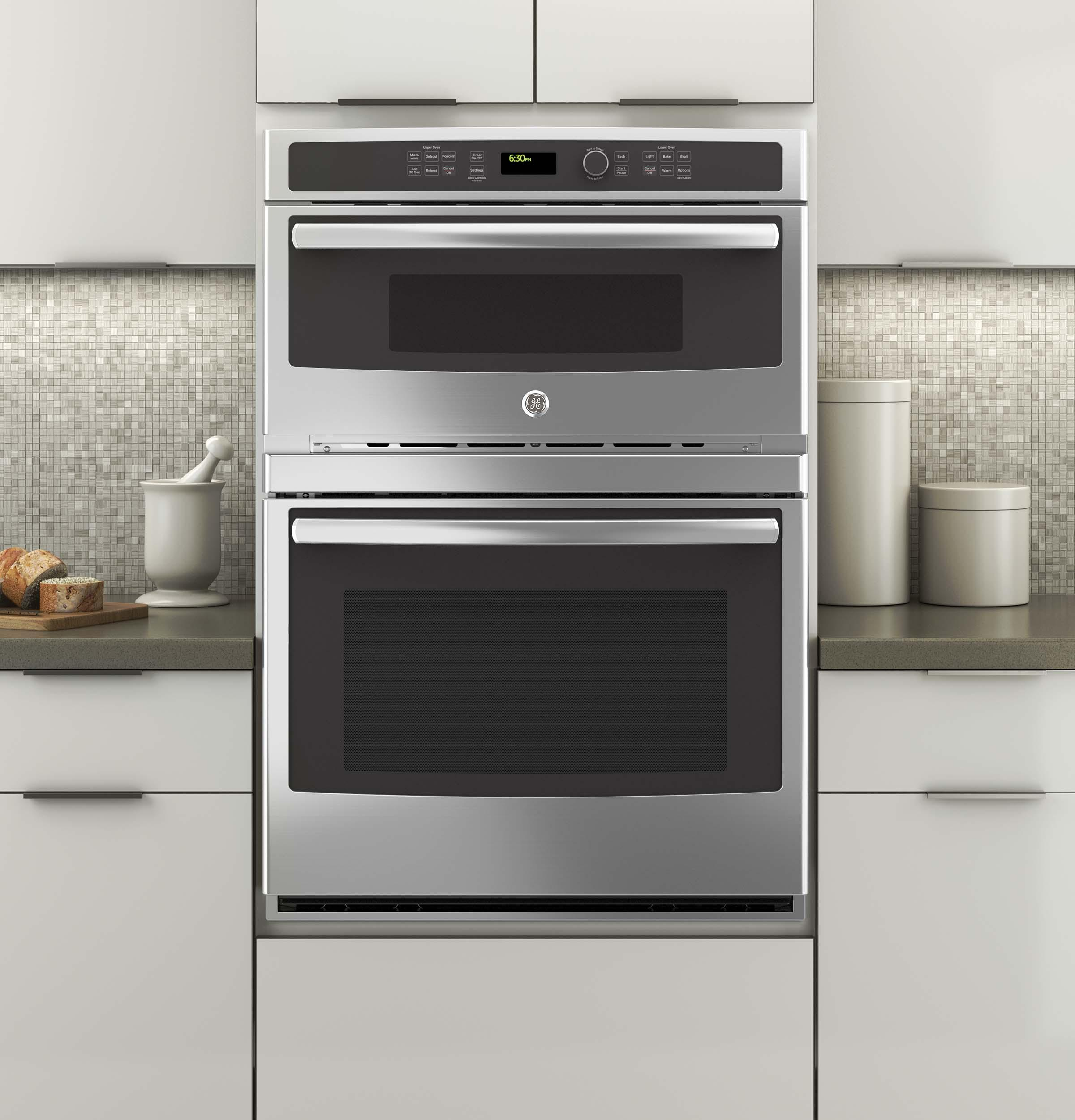 """GE Appliances Electric Wall Ovens 30"""" Built-In Combination Oven - Item Number: JT3800SHSS"""