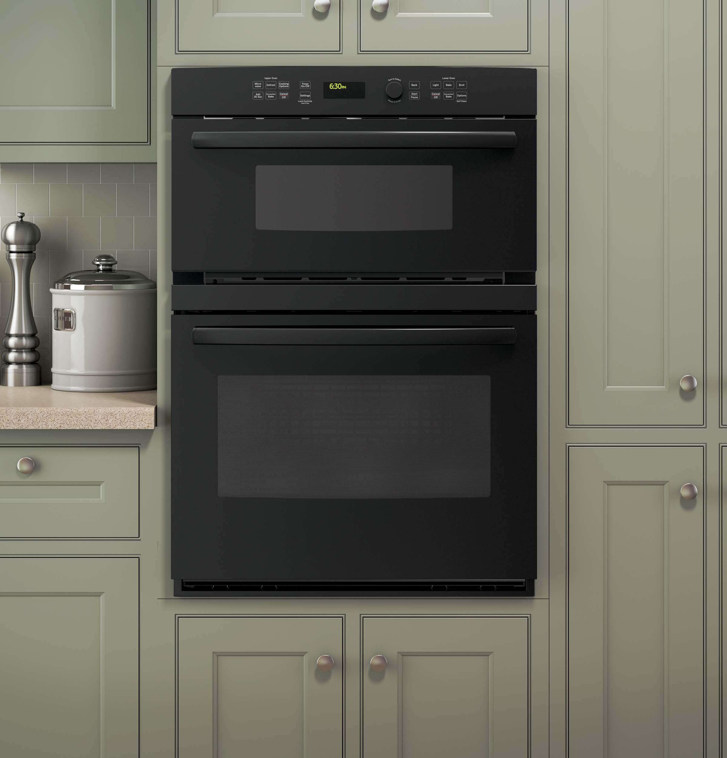 """GE Appliances Electric Wall Ovens Profile™ 30"""" Built-In Combination Oven - Item Number: PT7800DHBB"""