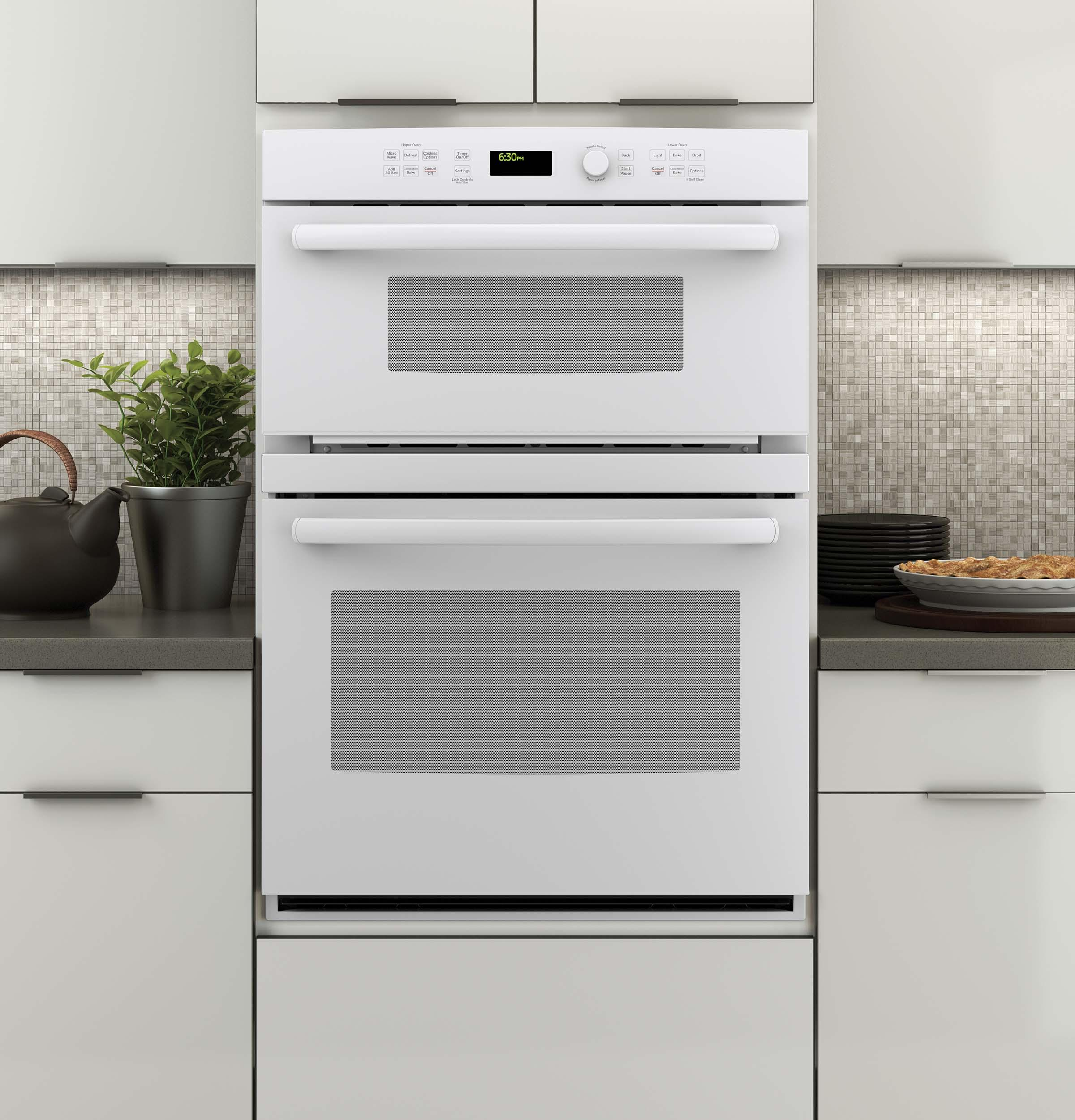 """GE Appliances Electric Wall Ovens Profile™ 30"""" Built-In Combination Oven - Item Number: PT7800DHWW"""