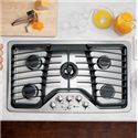 "GE Appliances Gas Cooktops 36"" Built-In Gas Cooktop - Item Number: PGP986SETSS"