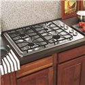 "GE Appliances Gas Cooktops 30"" Built-In Gas Cooktop - Item Number: JGP329SETSS"