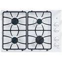 "GE Appliances Gas Cooktops 30"" Built-In Gas Cooktop - Item Number: JGP333DETWW"