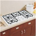 "GE Appliances Gas Cooktops 36"" Built-In Gas Cooktop - Item Number: JGP633DETWW"