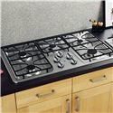 "GE Appliances Gas Cooktops 36"" Built-In Gas Cooktop - Item Number: JGP633SETSS"