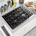 "GE Appliances Gas Cooktops 30"" Built-In Gas Cooktop - Item Number: JGP940SEKSS"
