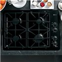 "GE Appliances Gas Cooktops 30"" Built-In Gas Cooktop - Item Number: PGP943DETBB"