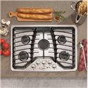 "GE Appliances Gas Cooktops 30"" Built-In Gas Cooktop - Item Number: PGP953SETSS"