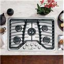 "GE Appliances Gas Cooktops 30"" Built-In Gas Cooktop - Item Number: PGP959SETSS"