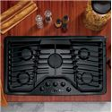 "GE Appliances Gas Cooktops 36"" Built-In Gas Cooktop - Item Number: PGP976DETBB"