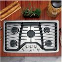 "GE Appliances Gas Cooktops 36"" Built-In Gas Cooktop - Item Number: PGP976SETSS"
