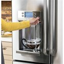 GE Appliances GE Cafe French Door Refigerators GE Cafe´™ Series ENERGY STAR® 22.2 Cu. Ft. Counter-Depth French-Door Refrigerator with Keurig® K-Cup® Brewing System