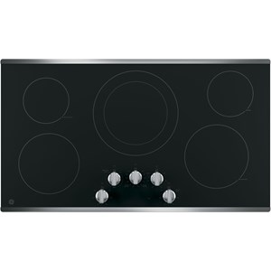 """GE Appliances GE Electric Cooktops 36"""" Built-In Knob Control Electric Cooktop"""