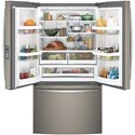 GE Appliances GE French Door Refrigerators GE® Series ENERGY STAR® 28.5 Cu. Ft. French-Door Refrigerator