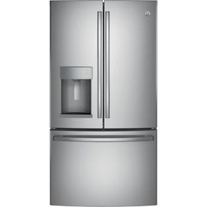 GE Appliances GE French Door Refrigerators ENERGY STAR® 22.2 Cu.Ft Counter Depth Fridge