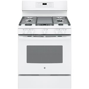 """GE Appliances GE Gas Ranges 30"""" Free-Standing Gas Convection Range"""