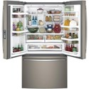 GE Appliances GE Profile French Door Refrigerators  GE Profile™ Series ENERGY STAR® 22.2 Cu. Ft. Counter-Depth French-Door Refrigerator