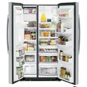 GE Appliances GE Profile Side-By-Side Refrigerators GE Profile™ Series 22.1 Cu. Ft. Counter-Depth Side-By-Side Refrigerator
