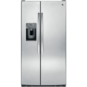 GE Appliances Side by Side Refrigerators - 2014 25.4 Cu. Ft. Side-By-Side Fridge