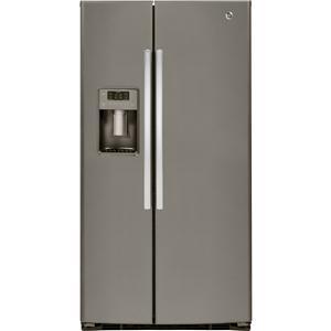 GE Appliances Side by Side Refrigerators - 2014 2 25.4 Cu. Ft. Side-By-Side Fridge