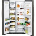 GE Appliances Side by Side Refrigerators - 2014 2 ENERGY STAR® 25.4 Cu. Ft. Side-By-Side Refrigerator