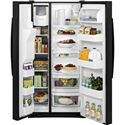 GE Appliances Side by Side Refrigerators - 2014 22.5 Cu. Ft. Side-By-Side Refrigerator