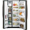 GE Appliances Side by Side Refrigerators - 2014 2 22.5 Cu. Ft. Side-By-Side Refrigerator