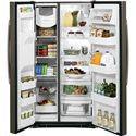 GE Appliances Side by Side Refrigerators - 2014 2 25.4 Cu. Ft. Side-By-Side Refrigerator