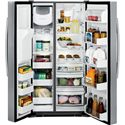 GE Appliances Side by Side Refrigerators - 2014 GE Profile™ Series ENERGY STAR® 28.4 Cu. Ft. Side-by-Side Refrigerator