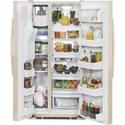 GE Appliances Side-By-Side Refrigerators GE Appliances ENERGY STAR® 23.2 Cu. Ft. Side-By-Side Refrigerator