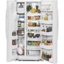 GE Appliances Side-By-Side Refrigerators  GE Appliances 23.2 Cu. Ft. Side-By-Side Refrigerator