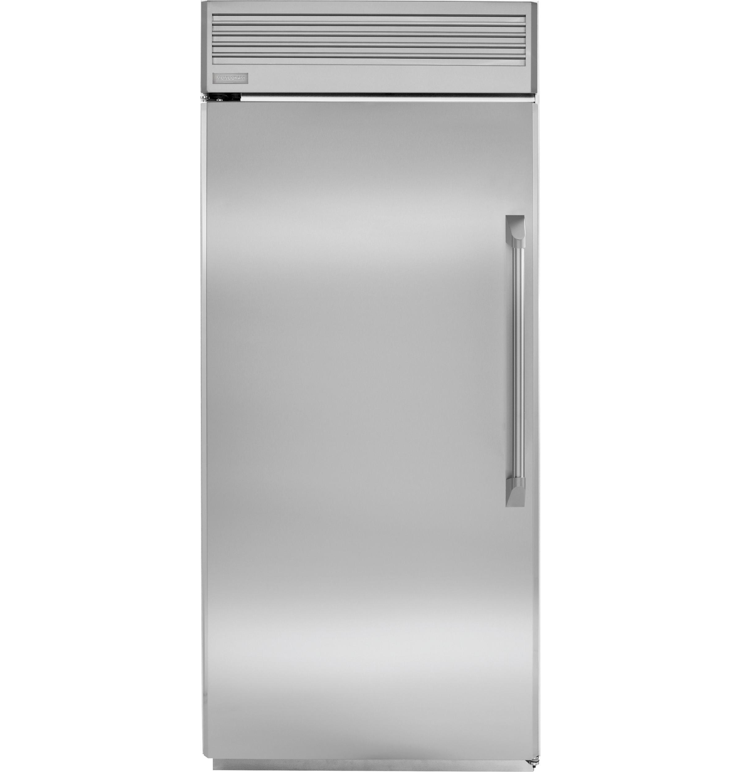 Ge Monogram 36 Professional Built In All Refrigerator With Concealed Halogen