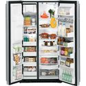 GE Monogram Freestanding Refrigeration 24.6 Cu. Ft. Counter-Depth Freestanding Side-by-Side Refrigerator with Exterior Ice and Water Dispenser - 24.6 Cu. Ft. Total Capacity
